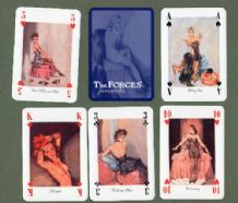 Pin up Playing cards The Forces Favourites